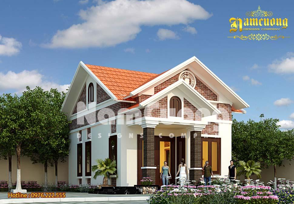 Thiết kế nhà vườn 1 tầng đẹp với chi phí thấp