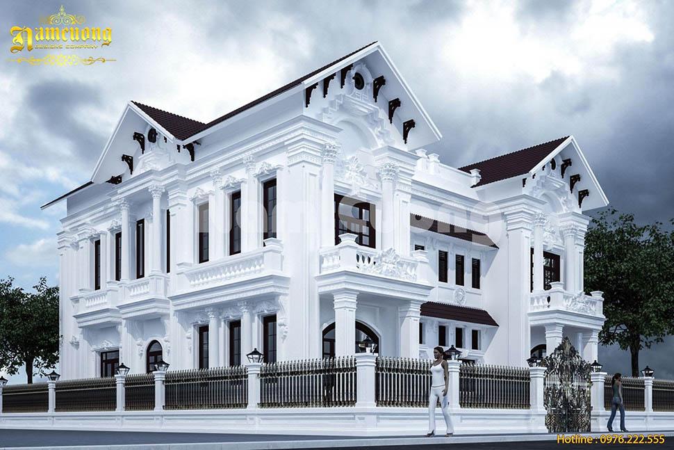 mẫu biệt thự song lập 2 tầng đẹp