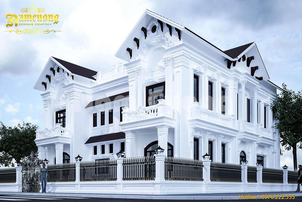 kiến trúc biệt thự 2 tầng song lập