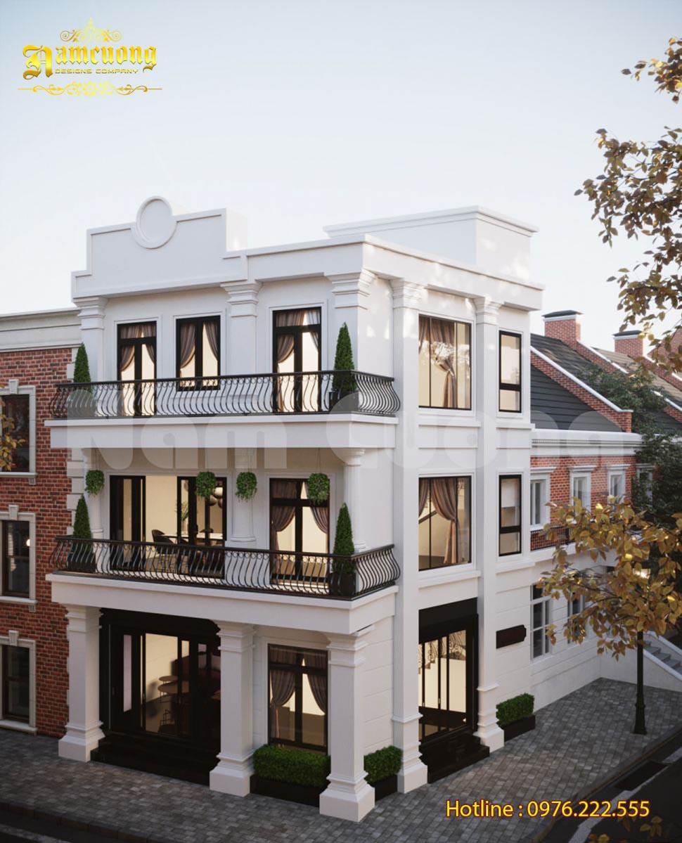 biệt thự phố 3 tầng tân cổ điển