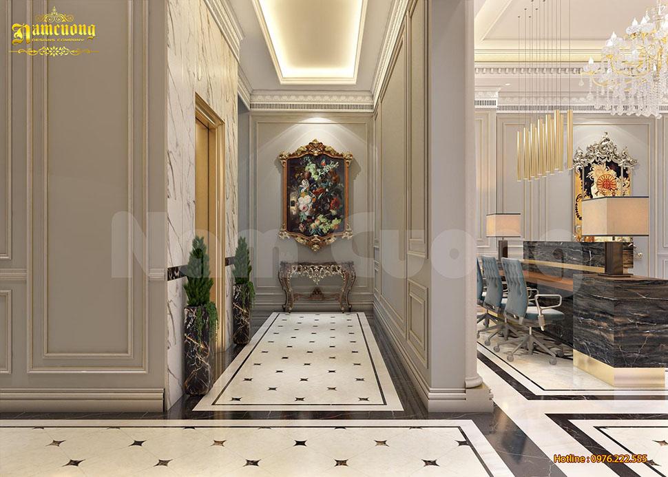 thiết kế hành lang khách sạn