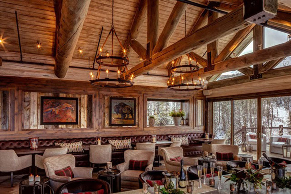 nội thất biệt thự Yellowstone Club đẹp nhất thế giới