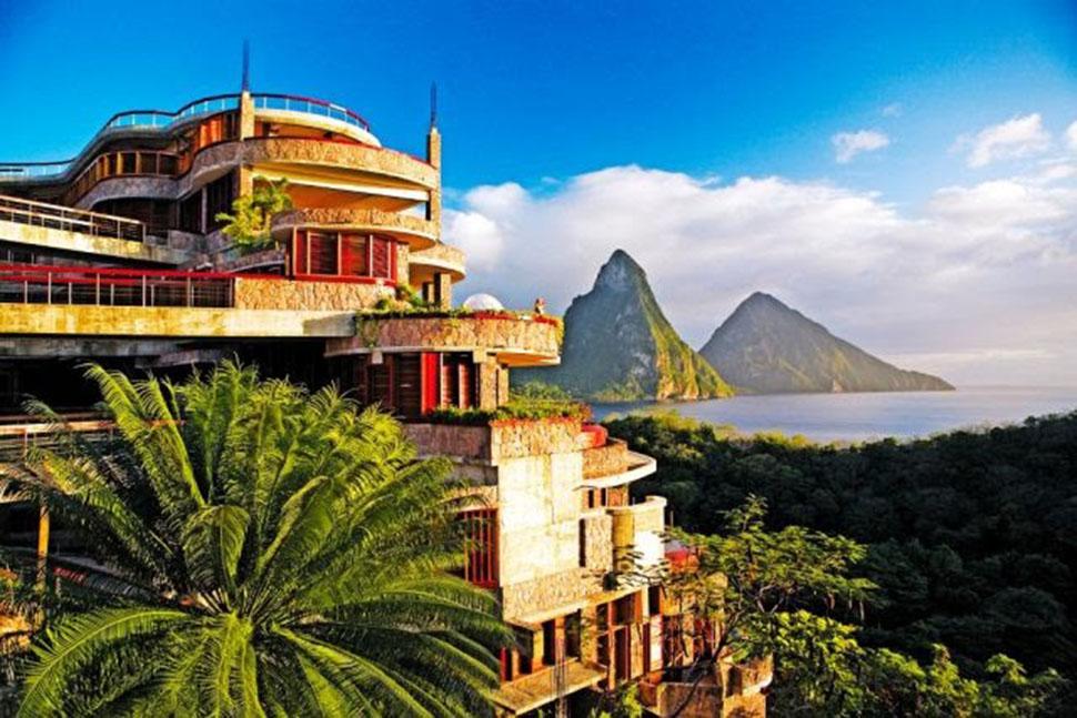 nội thất biệt thự Jade Mountain đẹp nhất thế giới
