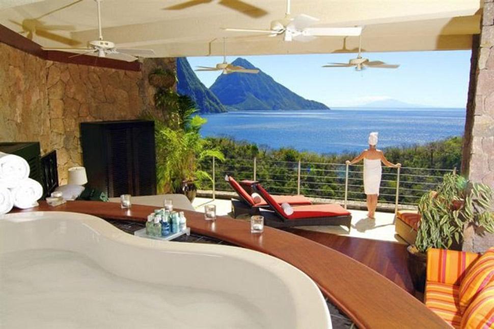 nội thất biệt thự Jade Mountain đẹp nhất thế giới 2