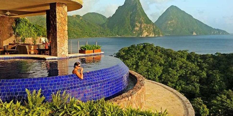 nội thất biệt thự Jade Mountain đẹp nhất thế giới 3