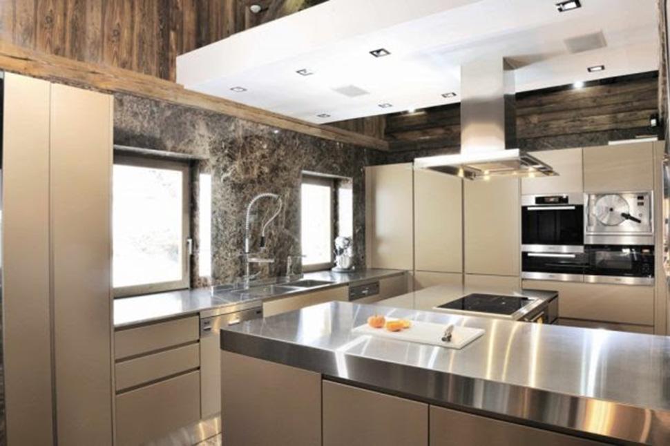 nội thất phòng bếp Biệt thự Chalet Brickell