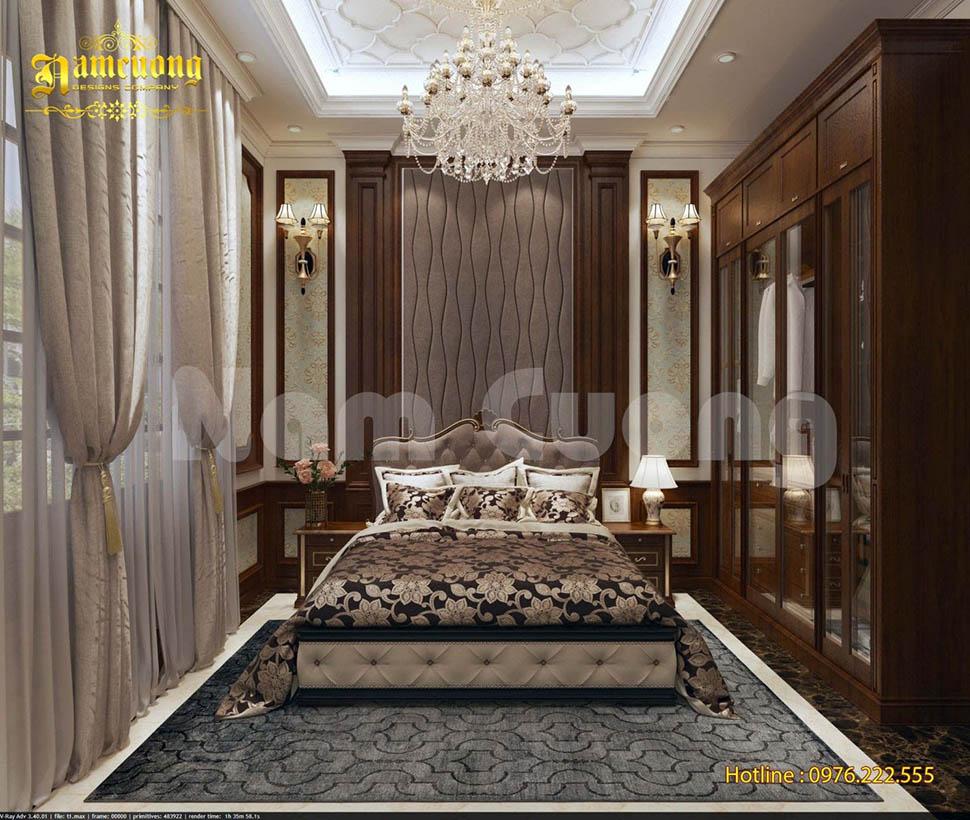 nội thất phòng ngủ biệt thự kiểu pháp