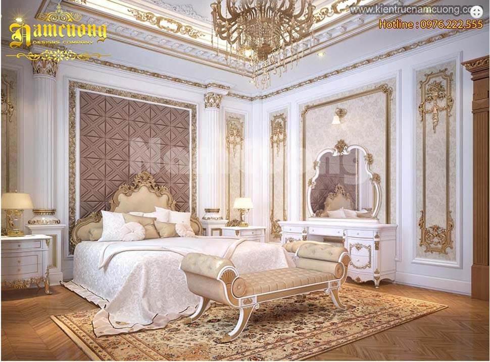 nội thất phòng ngủ biệt thự lâu đài