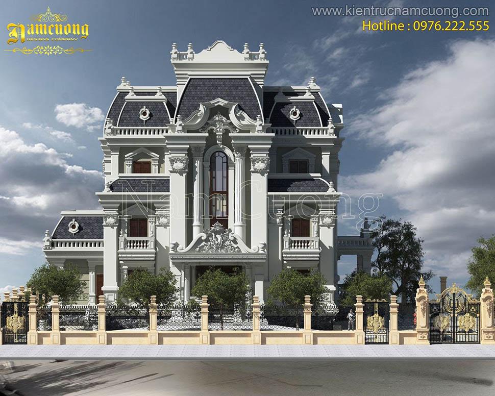 thiết kế biệt thự lâu đài 3 tầng