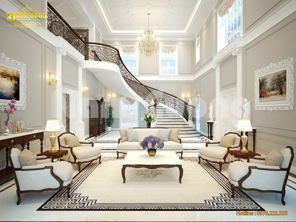 thiết kế không gian nội thất biệt thự