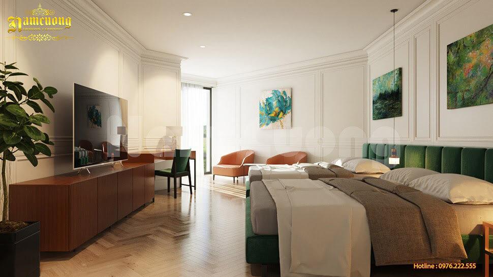 nội thất phòng ngủ khách sạn hiện đại