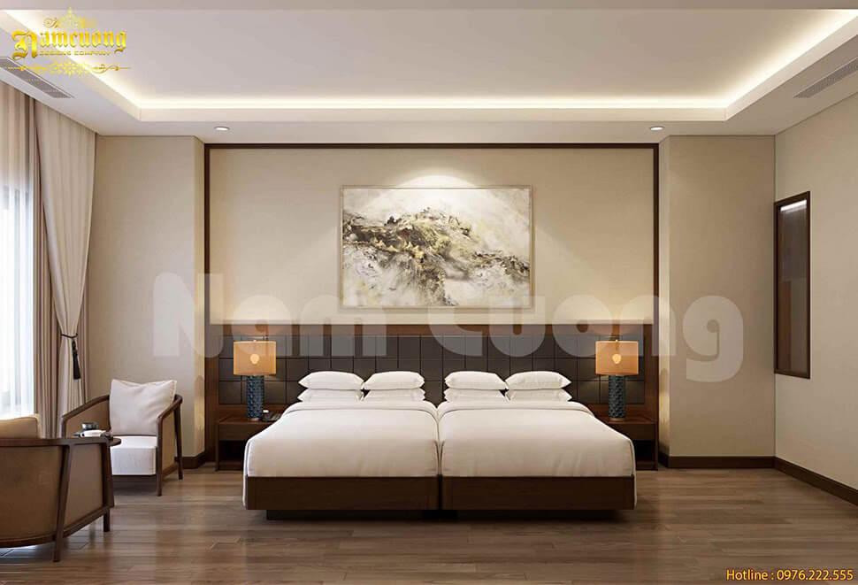 thiết kế nội thất phòng ngủ khách sạn mini