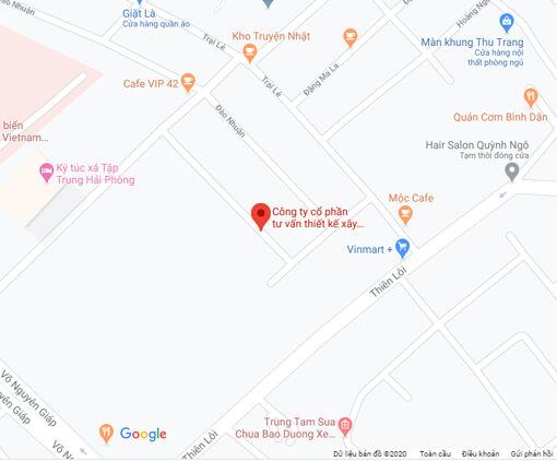 địa chỉ đường công ty Kiến Trúc Nam Cường