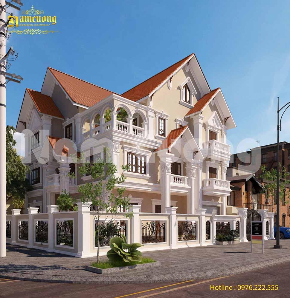 kiến trúc biệt thự 3 tầng đẹp