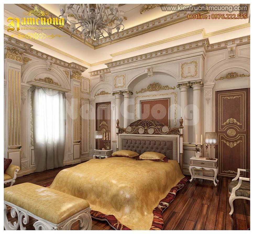 nội thất phòng ngủ biệt thự pháp