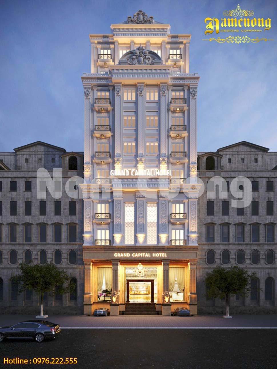 giá thiết kế khách sạn mini