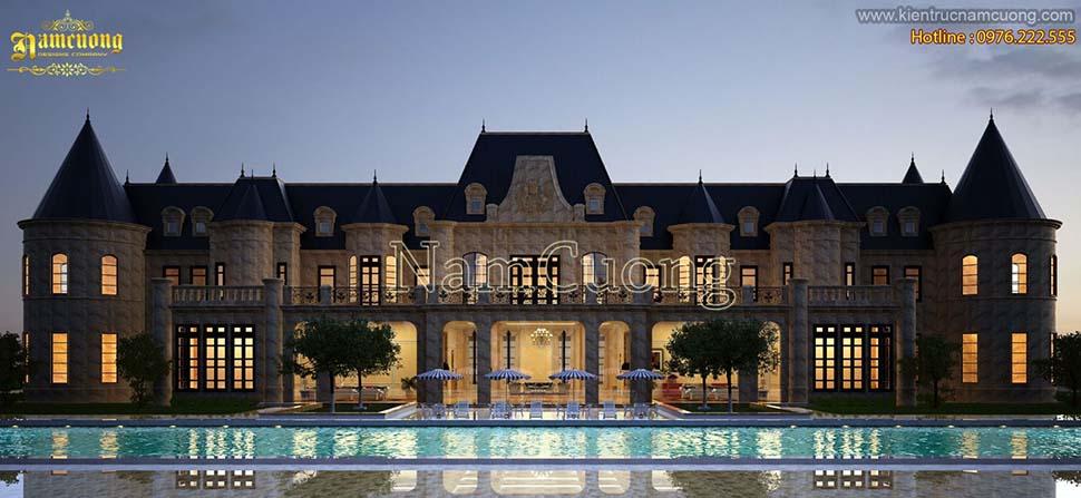 biệt thự có bể bơi kiểu châu âu