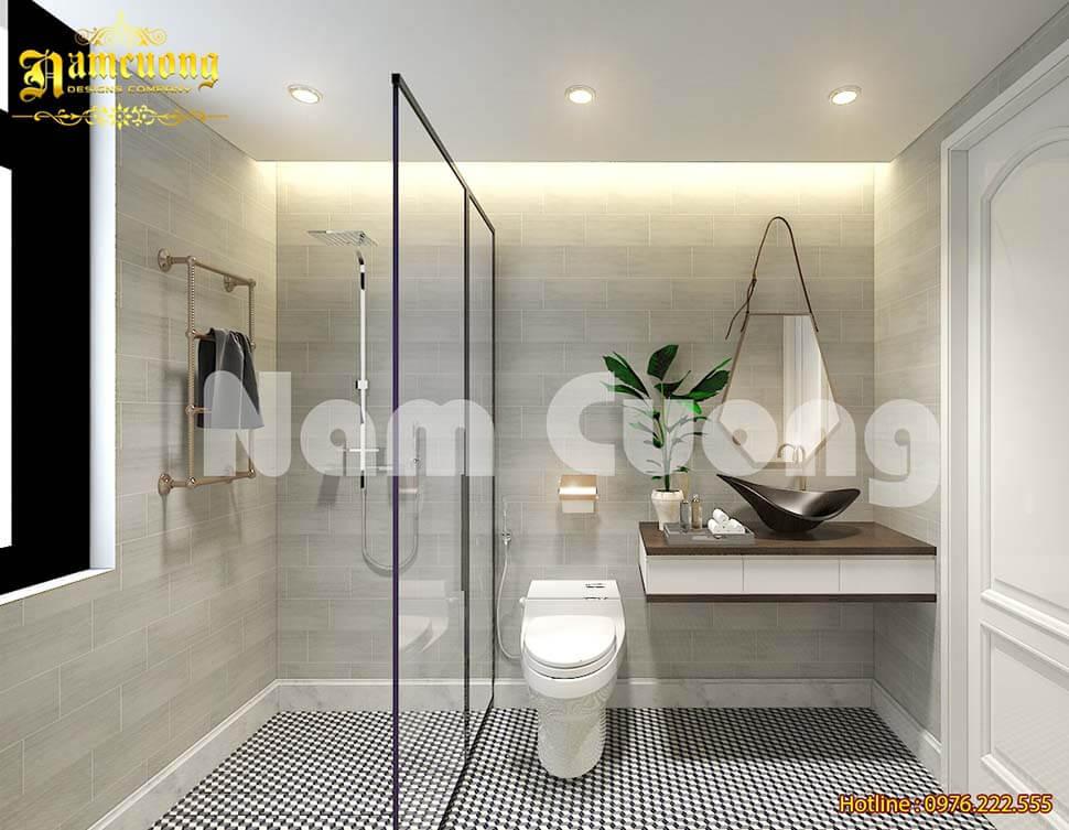 phòng WC hiện đại, tiện nghi