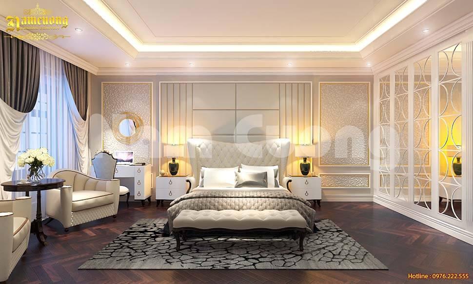 phòng ngủ nhà mặt tiền 9m