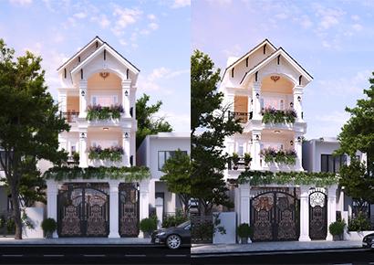 thiết kế nhà phố 3 tầng uy tín