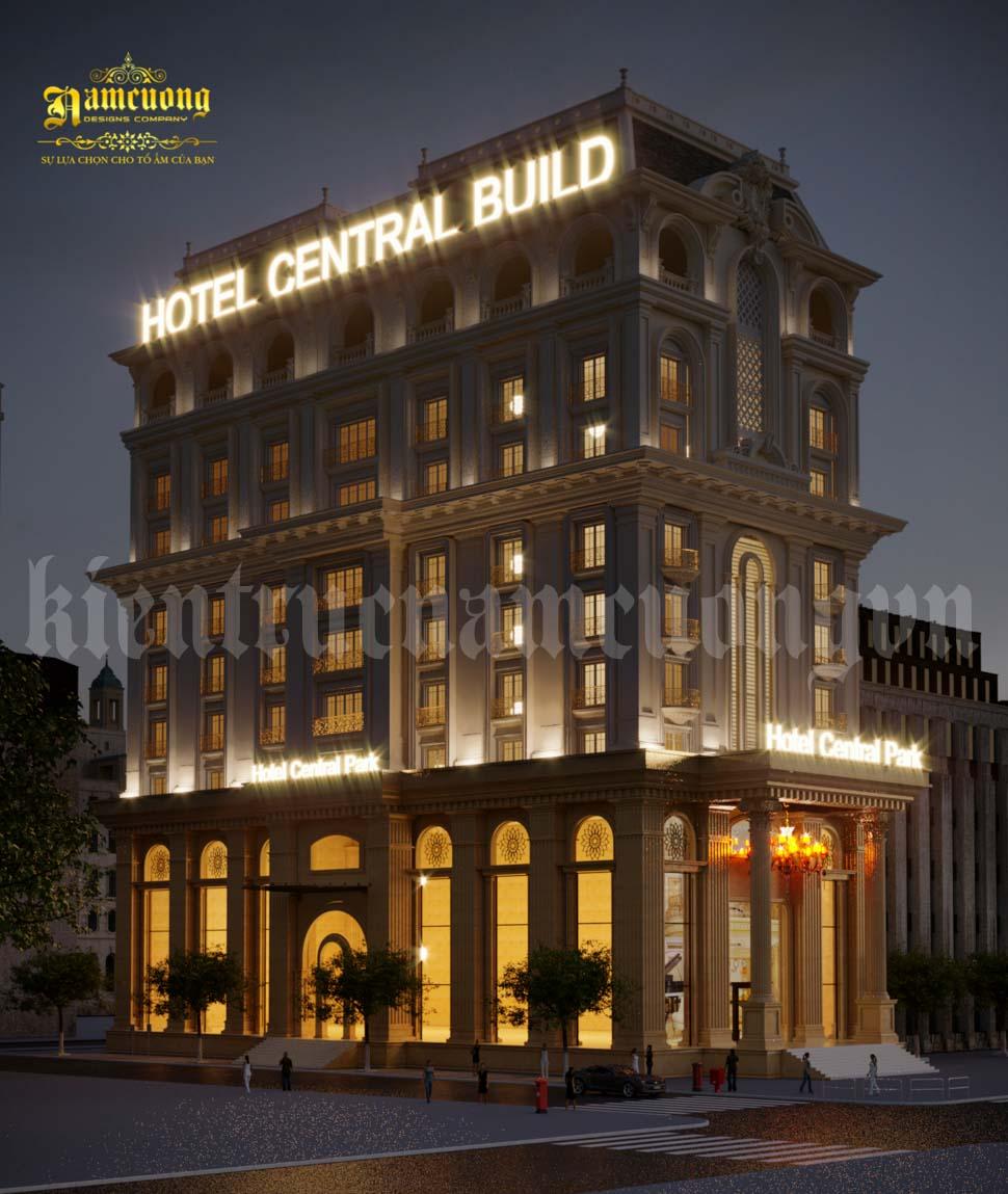 kiến trúc khách sạn 2 mặt tiền