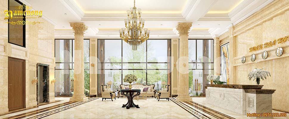 sảnh khách sạn 5 tầng