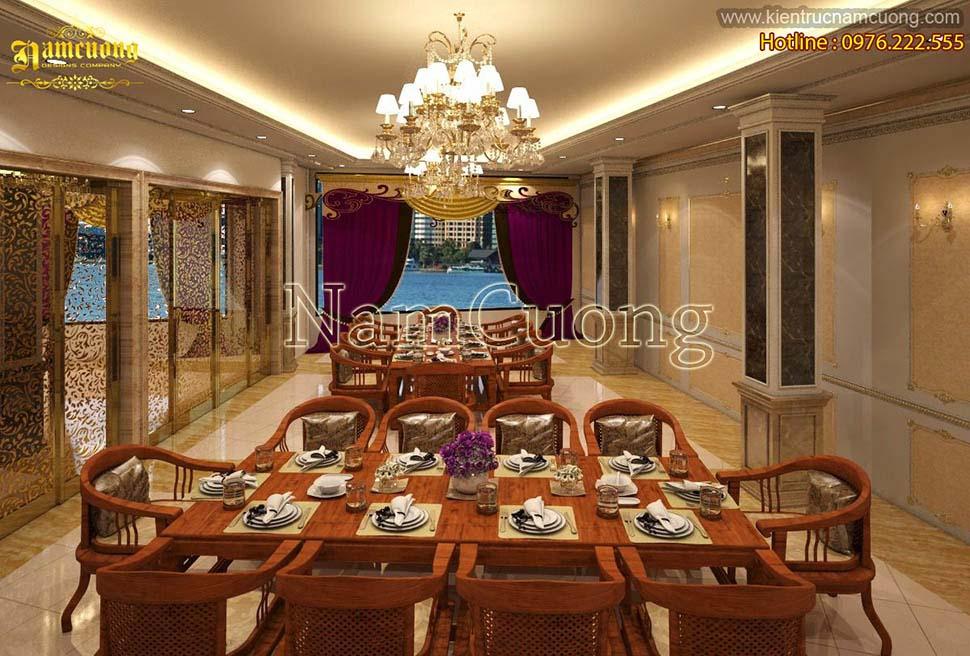 bàn ăn trong khách sạn boutique