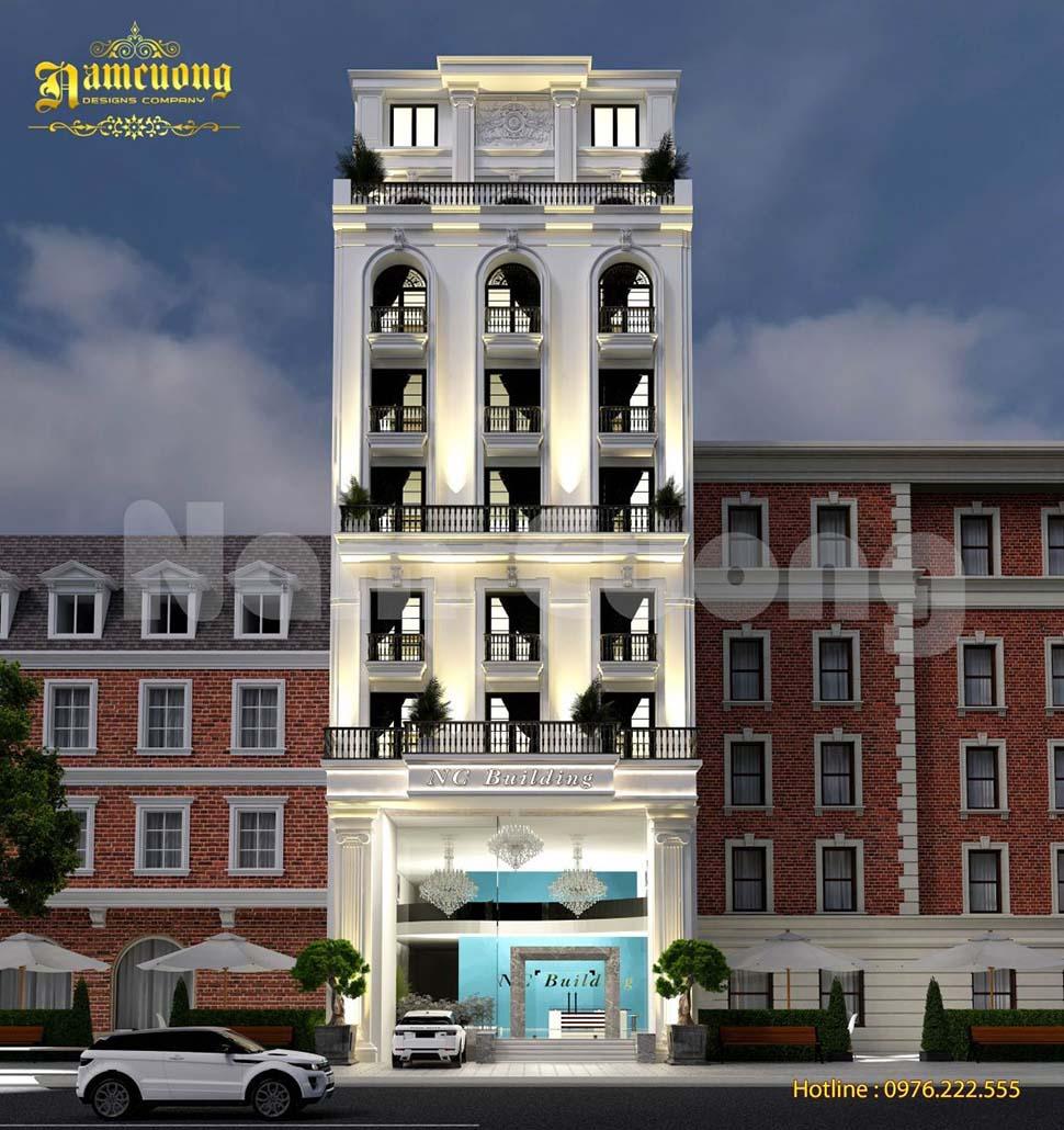 khách sạn 10 tầng kiểu pháp