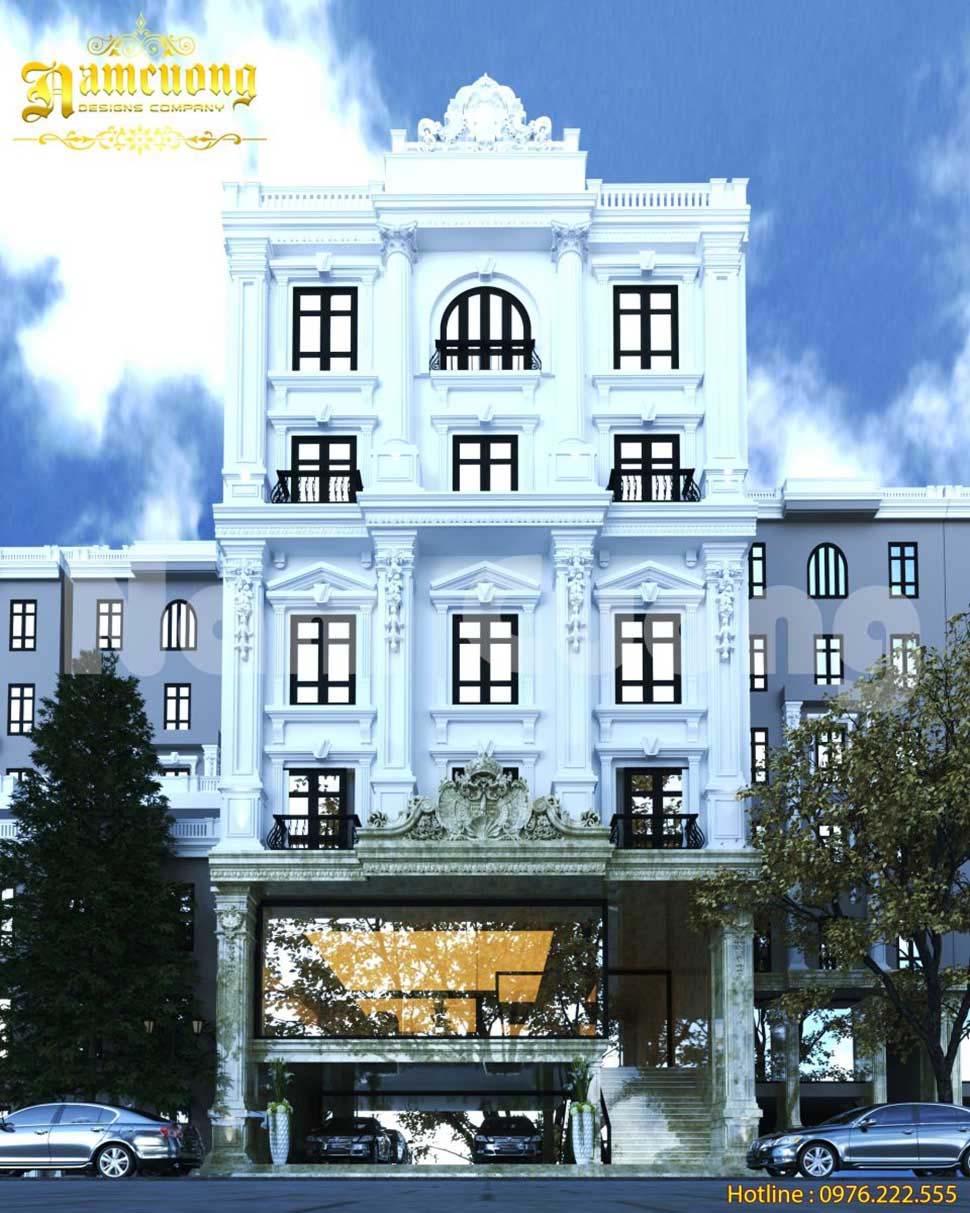 khách sạn cổ điển có tầng hầm