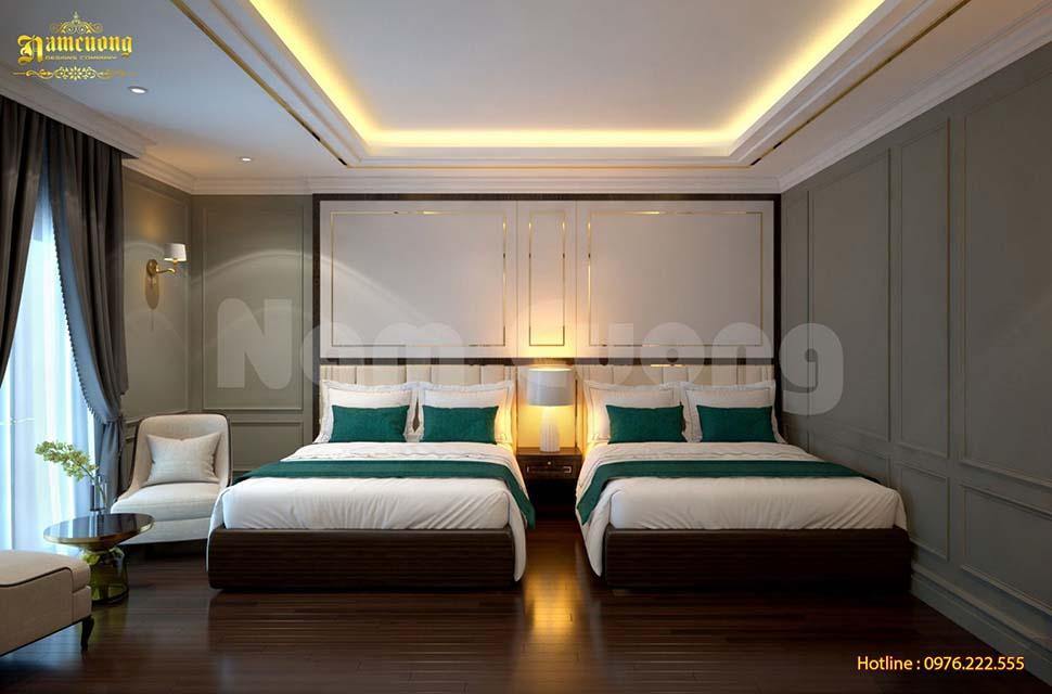phòng ngủ khách sạn sang trọng