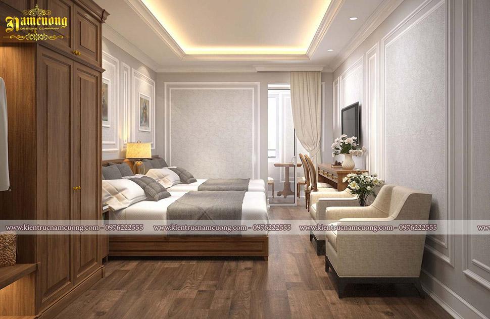 phòng ngủ đẹp cho khách sạn nhỏ