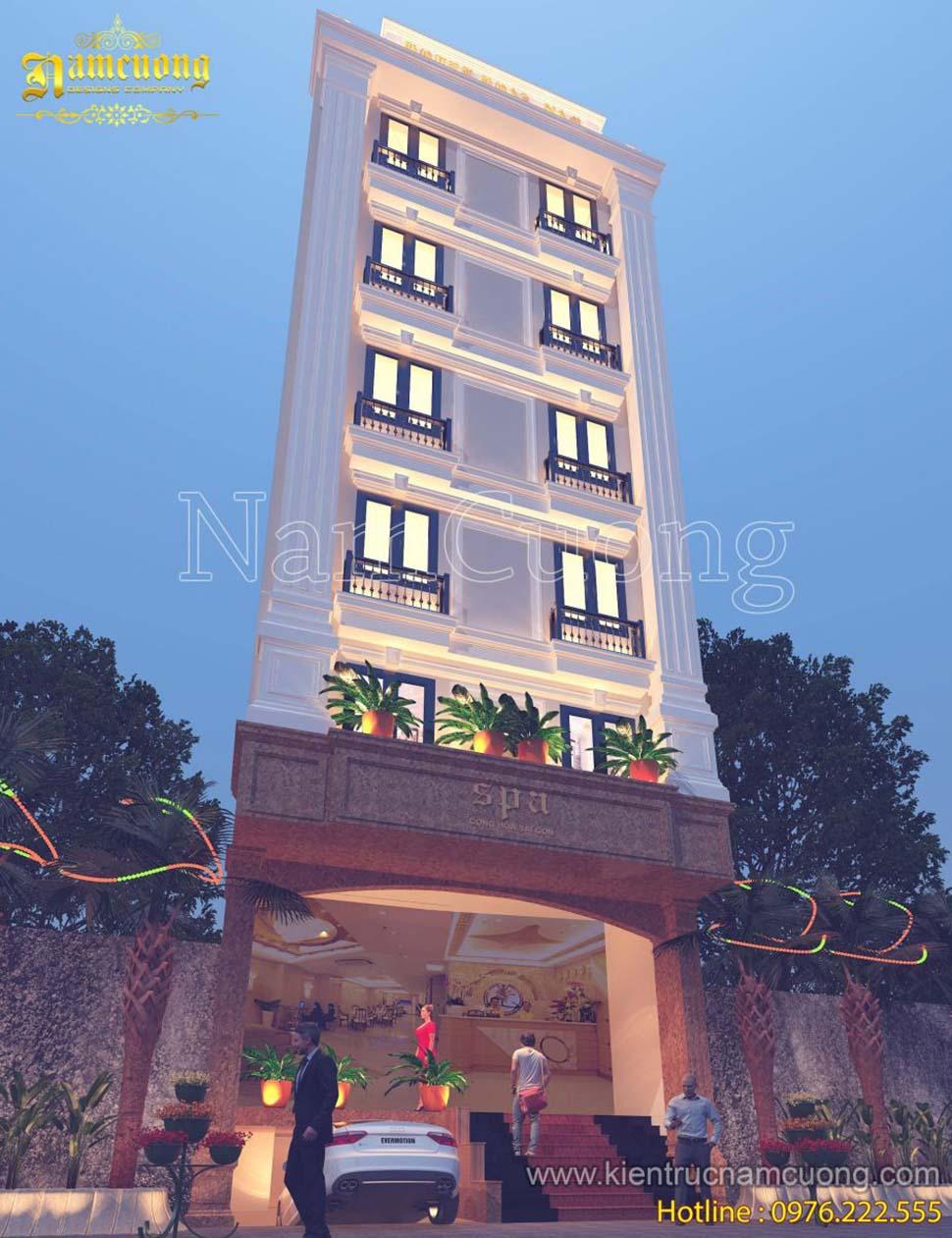 mặt tiền khách sạn mini 7 tầng