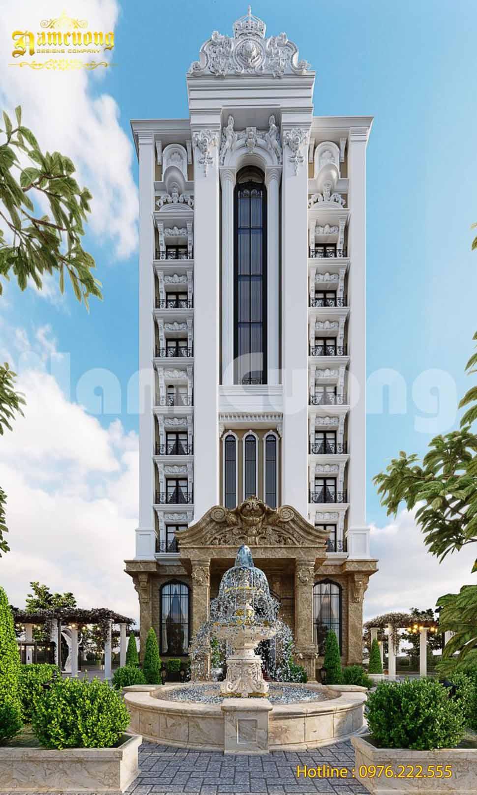 kiến trúc khách sạn cho khách hàng thượng lưu