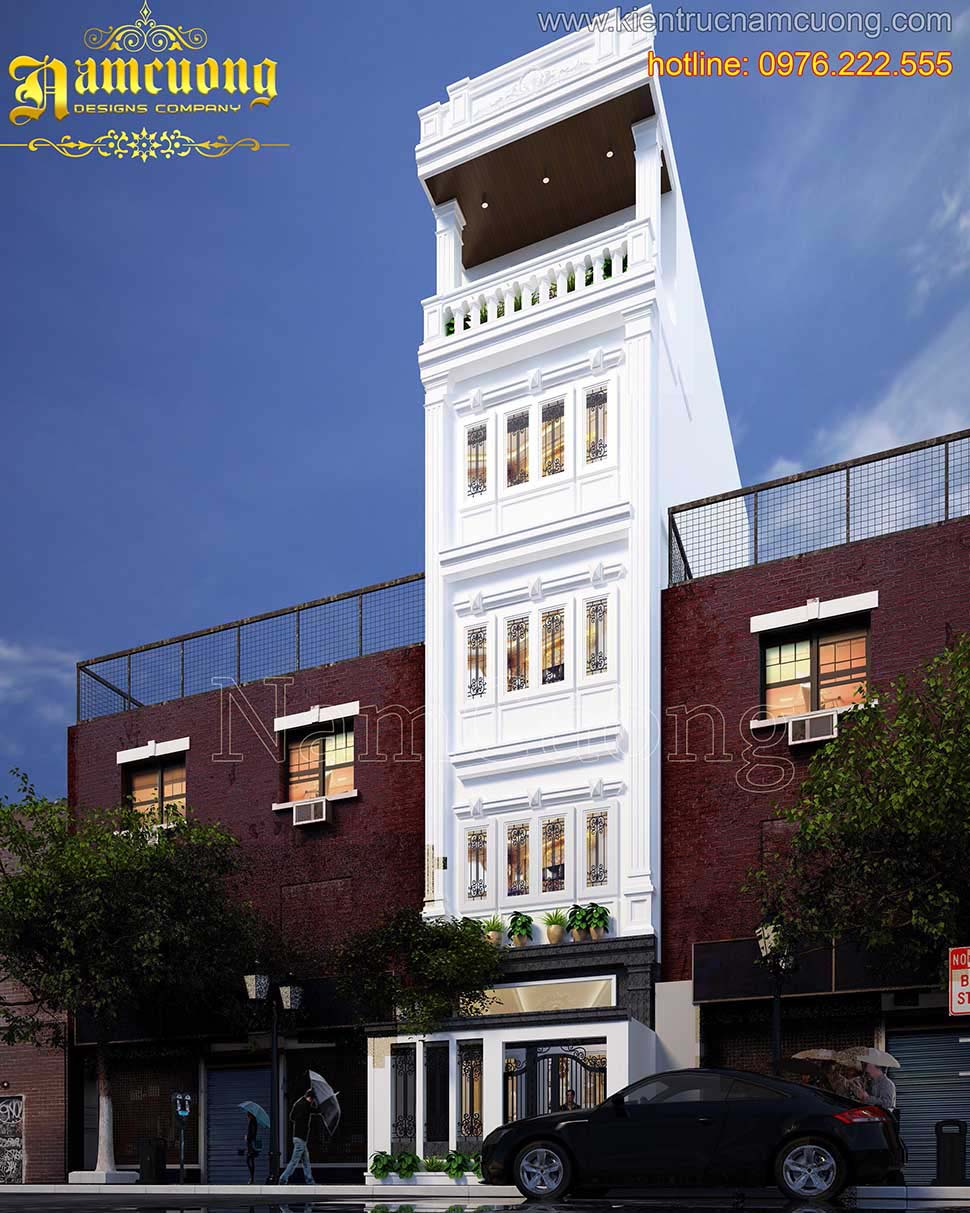 kiến trúc nhà phố mặt tiền 5m