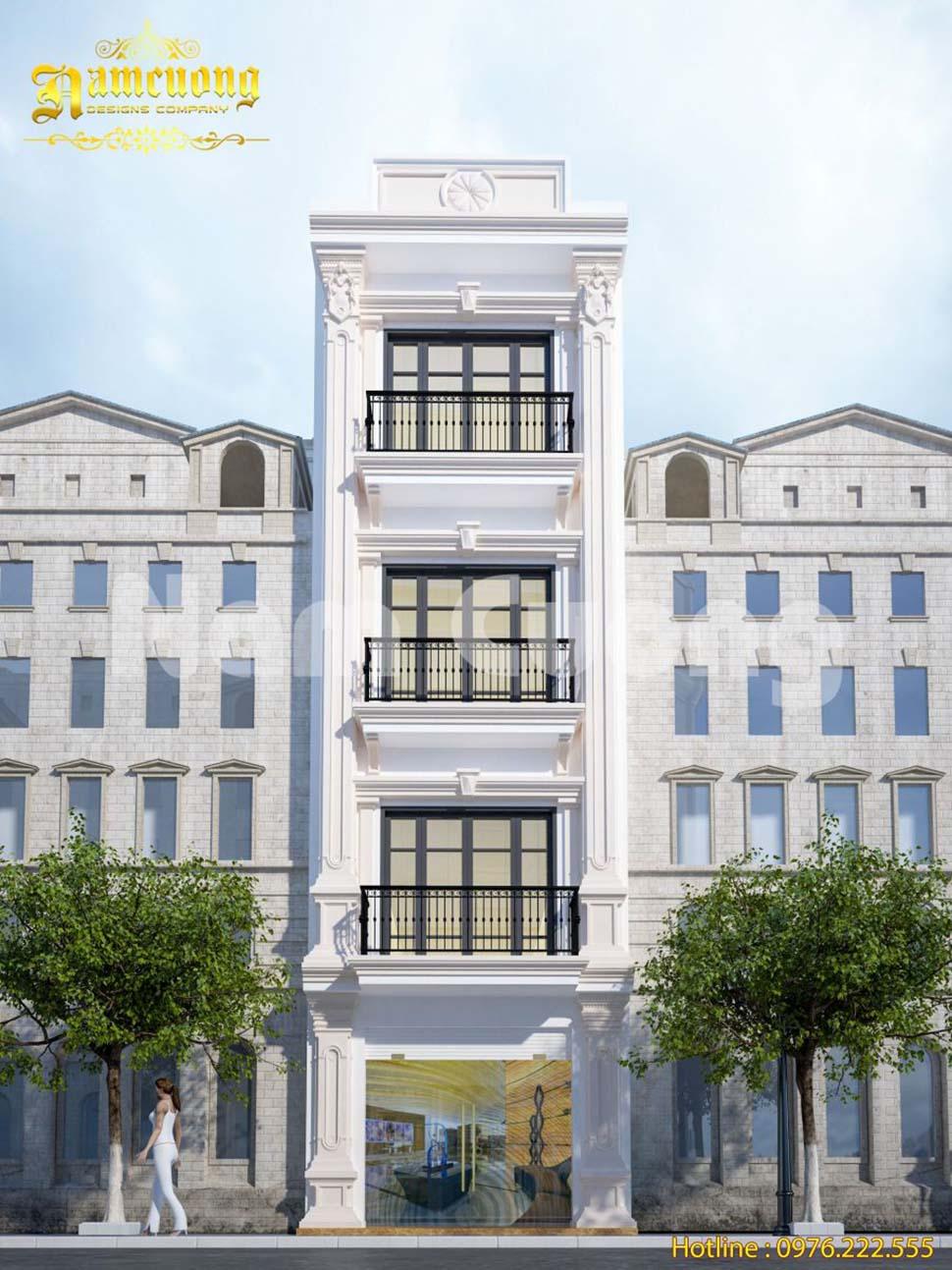 nhà phố 4 tầng mặt tiền 4m