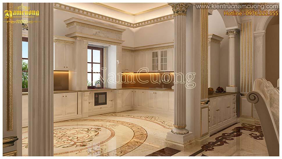thiết kế phòng bếp 25m2