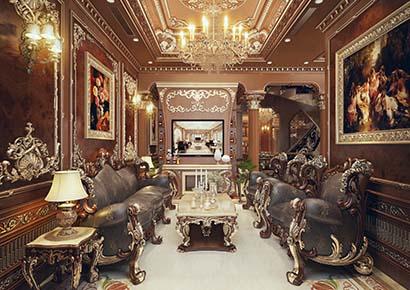 thiết kế nội thất biệt thự bằng gỗ đẹp