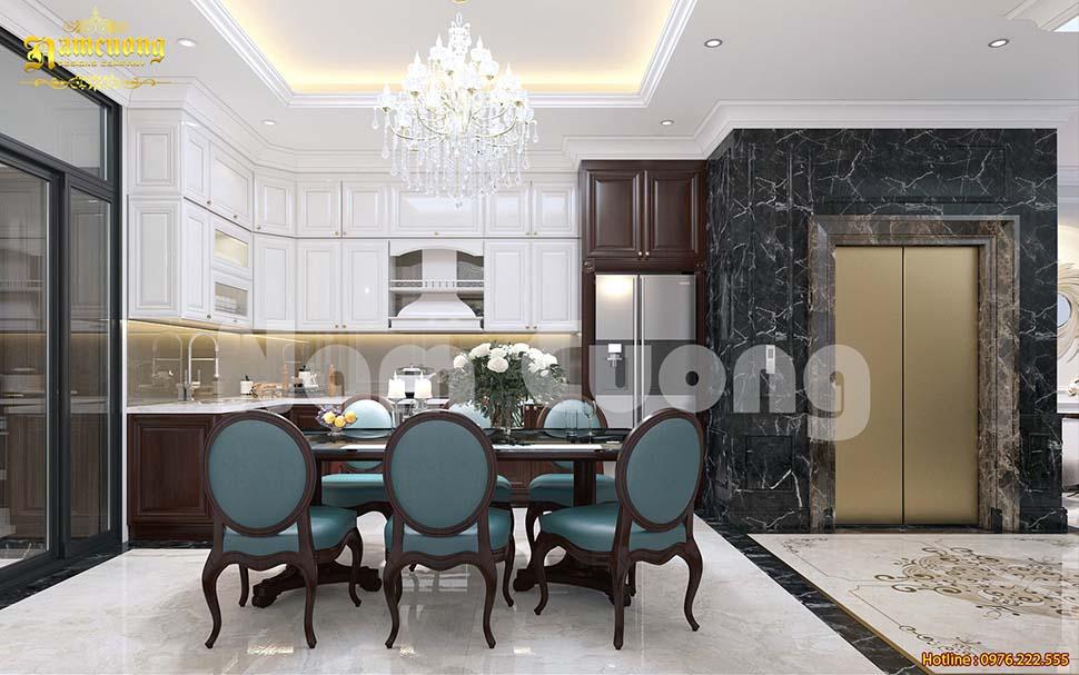 không gian phòng bếp ấn tượng