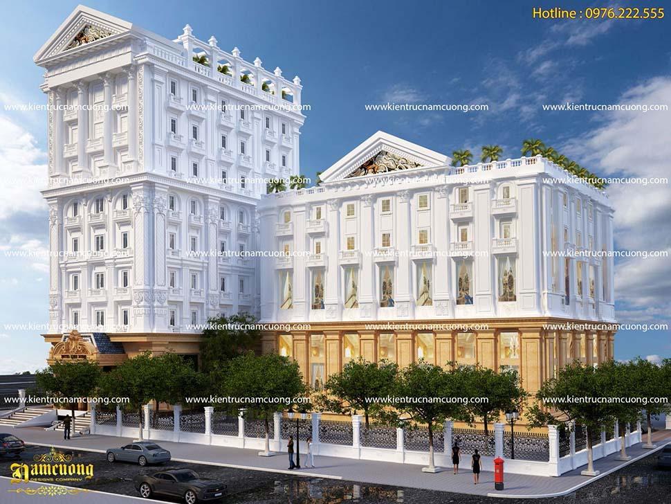 thiết kế tổ hợp kinh doanh khách sạn