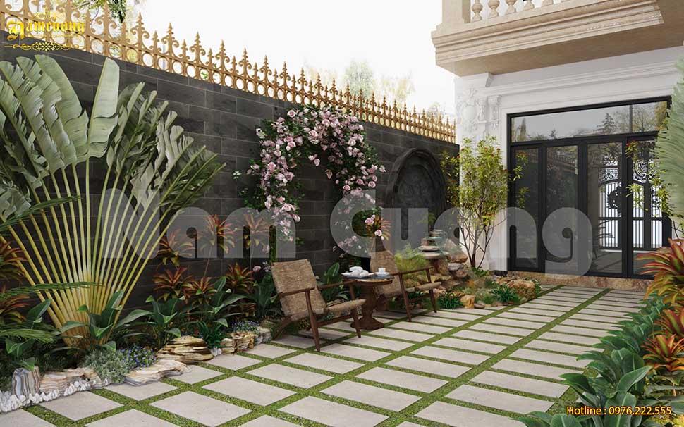 thiết kế sân vườn cho nhà