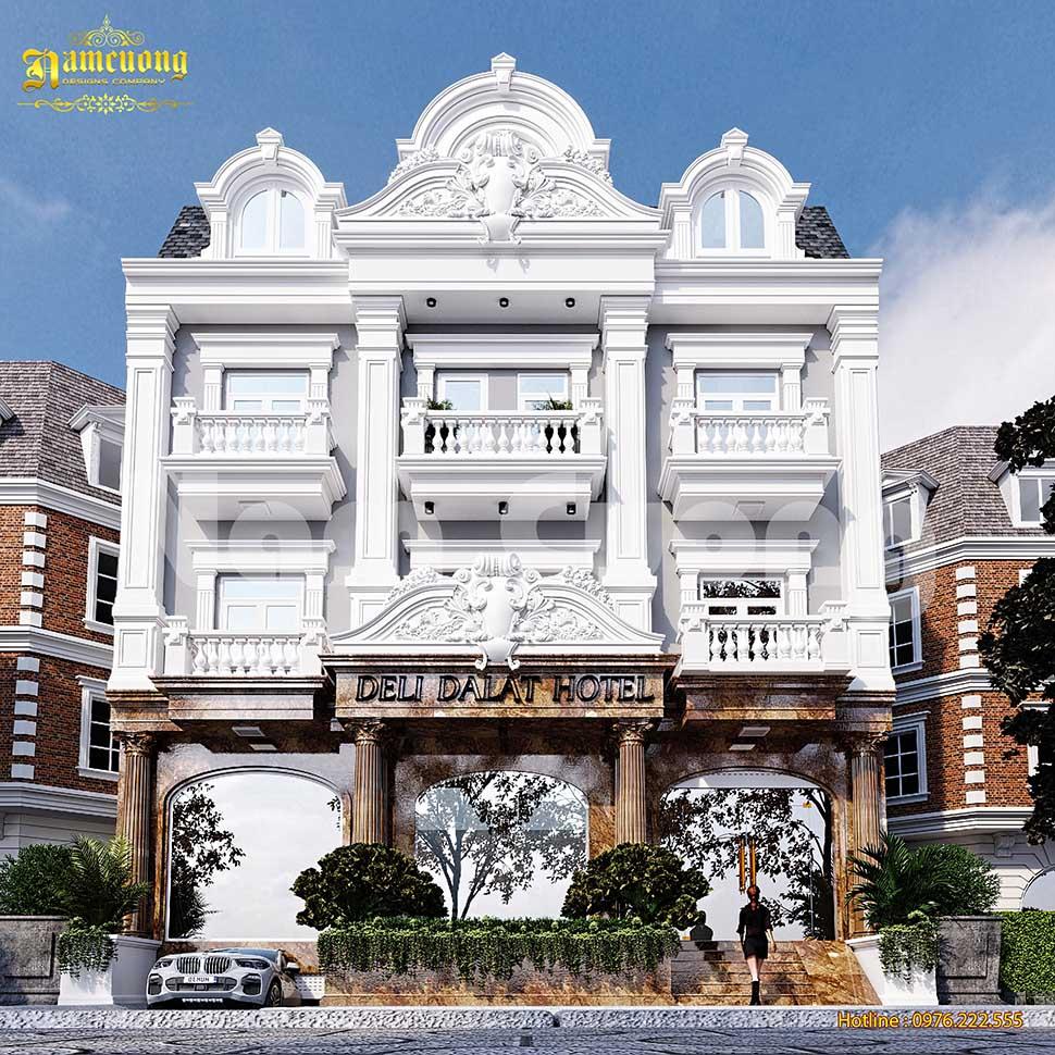 khách sạn mặt tiền 20m