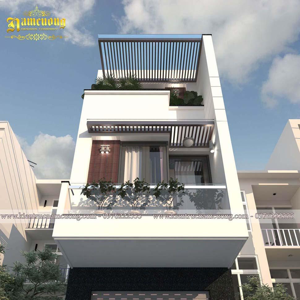 mặt tiền nhà phố 3 tầng hiện đại 4x20m