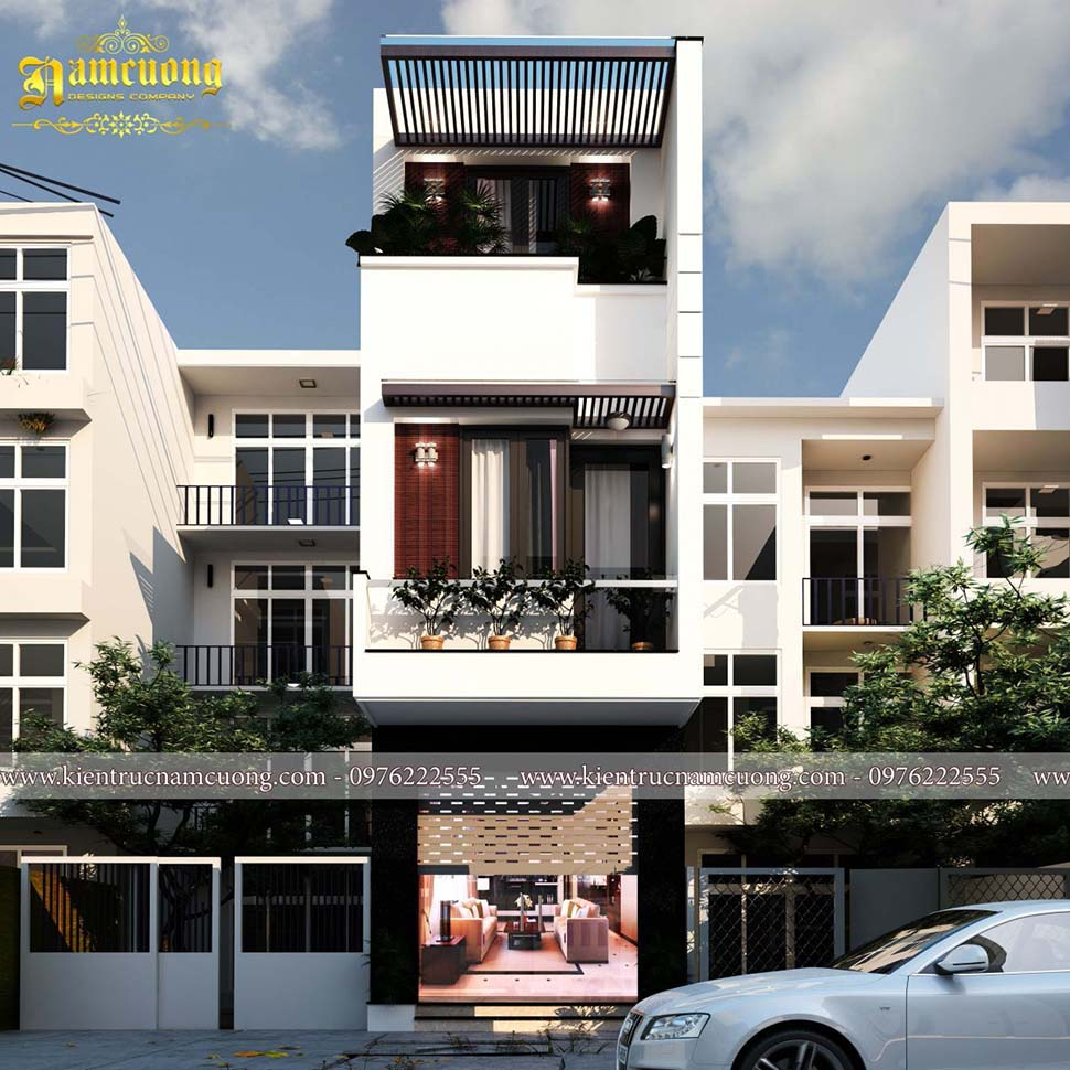 nhà phố 3 tầng hiện đại 4x20m