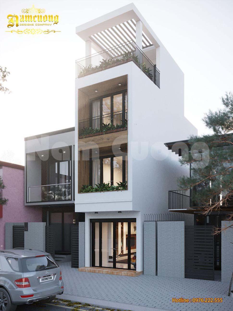 mặt tiền nhà phố 4x10m