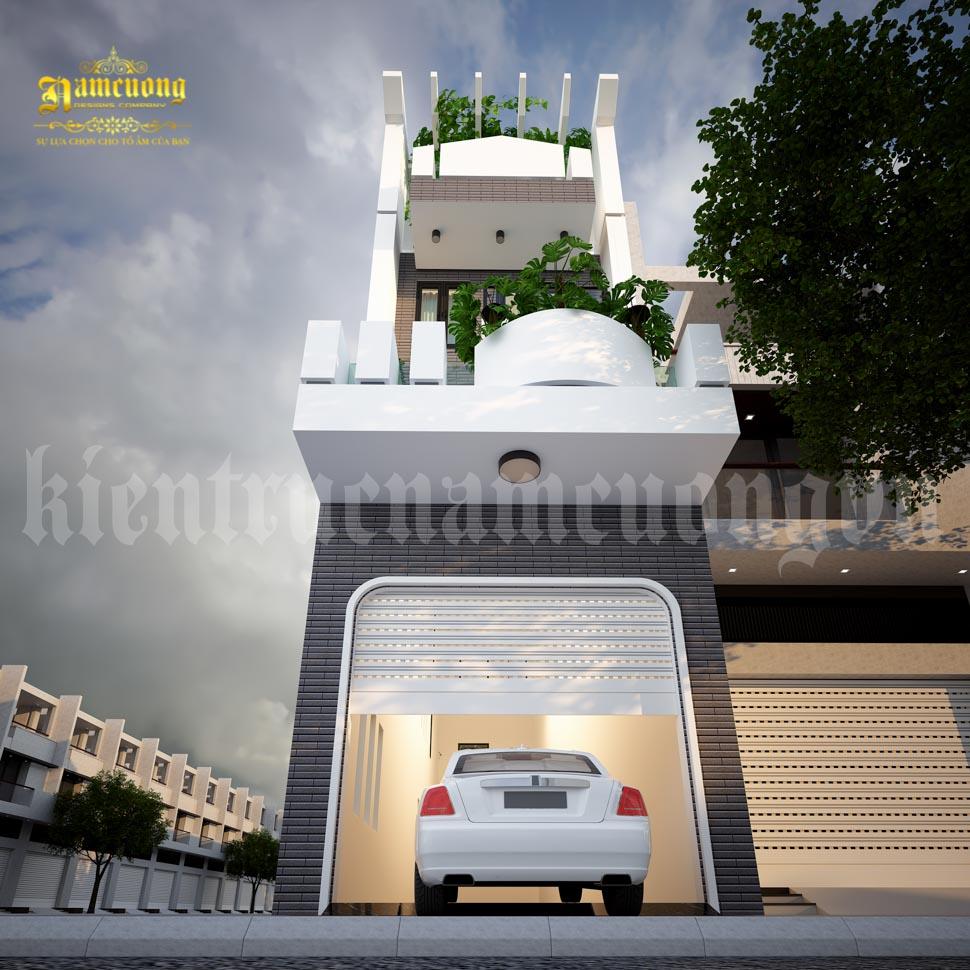kiến trúc nhà 2 mặt tiền
