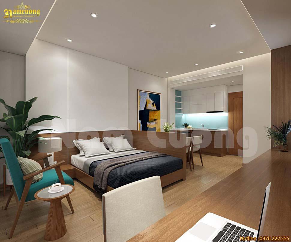 nội thất nhà phố kính hiện đại