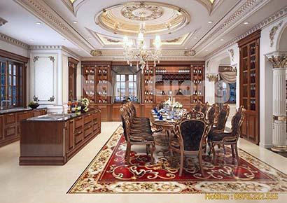 thiết kế nội thất biệt thự cổ điển