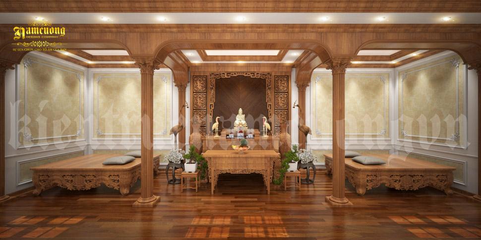 nội thất phòng thờ biệt thự đẹp