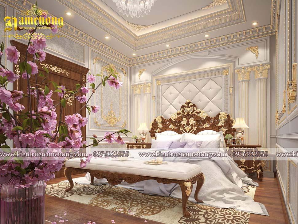 nội thất phòng ngủ biệt thự pháp cổ
