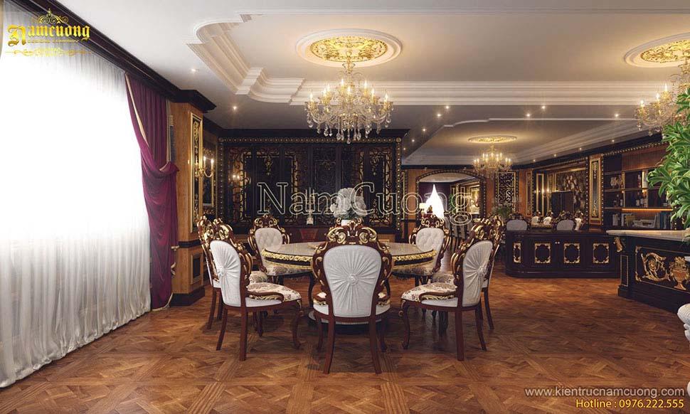 nội thất phòng bếp biệt thự cổ điển